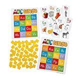 Fun Express ABC Bingo - 26 Pieces - Educational and Learning Activities for Kids