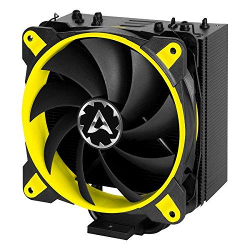 ARCTIC Freezer 33 eSports ONE - Tower CPU Luftkühler mit 120 mm PWM Prozessorlüfter für Intel und AMD Sockel, für CPUs bis 200 Watt TDP, leiser und effizienter Cooler - Gelb