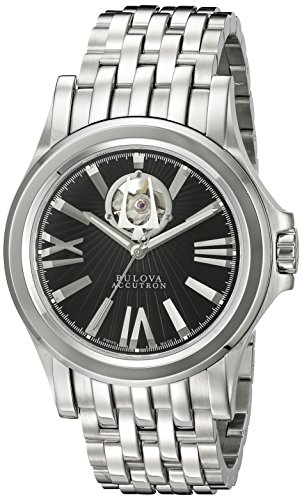 Bulova Accutron Gents Stainless Steel Watch with Dark Grey Dial