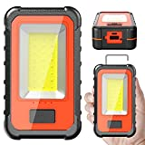 LED Work Light, WAKYME COB 40W 4000Lumens Rechargeable Work Light, Magnetic Base & Hanging Hook Portable Light, LED Flood Light for Car Repairing, Camping, Hiking, Fishing, Hurricane, Emergency Job
