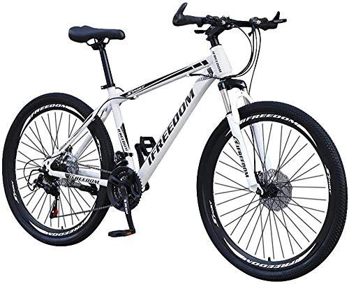 Bicicleta de montaña Completa de Acero al Carbono Stone Mountain 26 Pulgadas Bicicleta de 21 velocidades para Hombres/Mujeres Equipo de Fitness para Ciclismo al Aire Libre