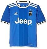 adidas Juve A JSY Y Camiseta 2ª Equipación Juventus FC 2015/2016, Niños, Azul/Blanco, 13-14 años
