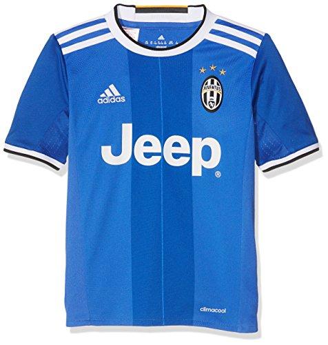 adidas AI6228 - Maglia Replica Juventus  Away  per Bambini stagione 2016-17, Blu/Bianco (Azuint/Azuvit/Blanco), 176 (15-16 anni)
