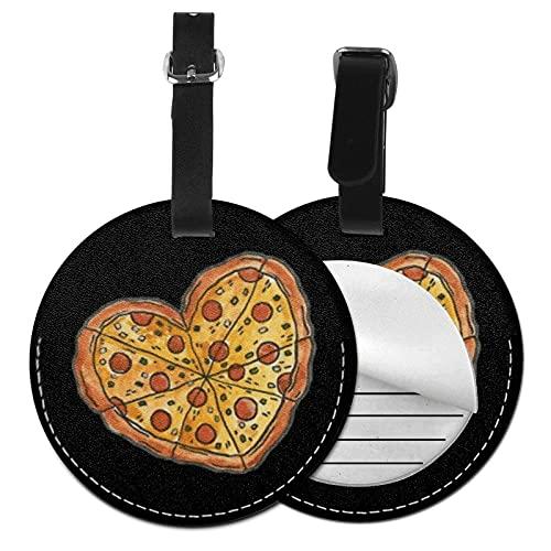 Etiquetas para Equipaje Bolso ID Tag Viaje Bolso De La Maleta Identifier Las Etiquetas Maletas Viaje Luggage ID Tag para Maletas Equipaje Pizza en Forma de corazón