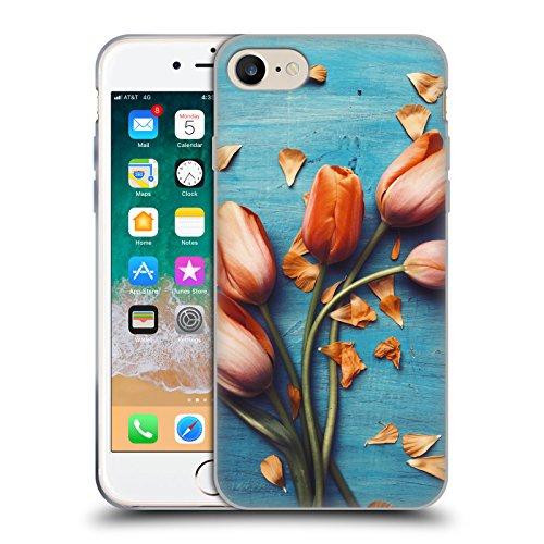 Head Case Designs Licenza Ufficiale Olivia Joy StClaire Tulipani Arancioni sul Tavolo Cover in Morbido Gel Compatibile con Apple iPhone 7 / iPhone 8 / iPhone SE 2020