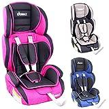 KIDIMAX® Autokindersitz Kindersitz Kinderautositz, Sitzschale, universal, zugelassen nach ECE R44/04, in 3, 9 kg - 36 kg 1-12 Jahre, Gruppe 1/2 / 3 (Pink)
