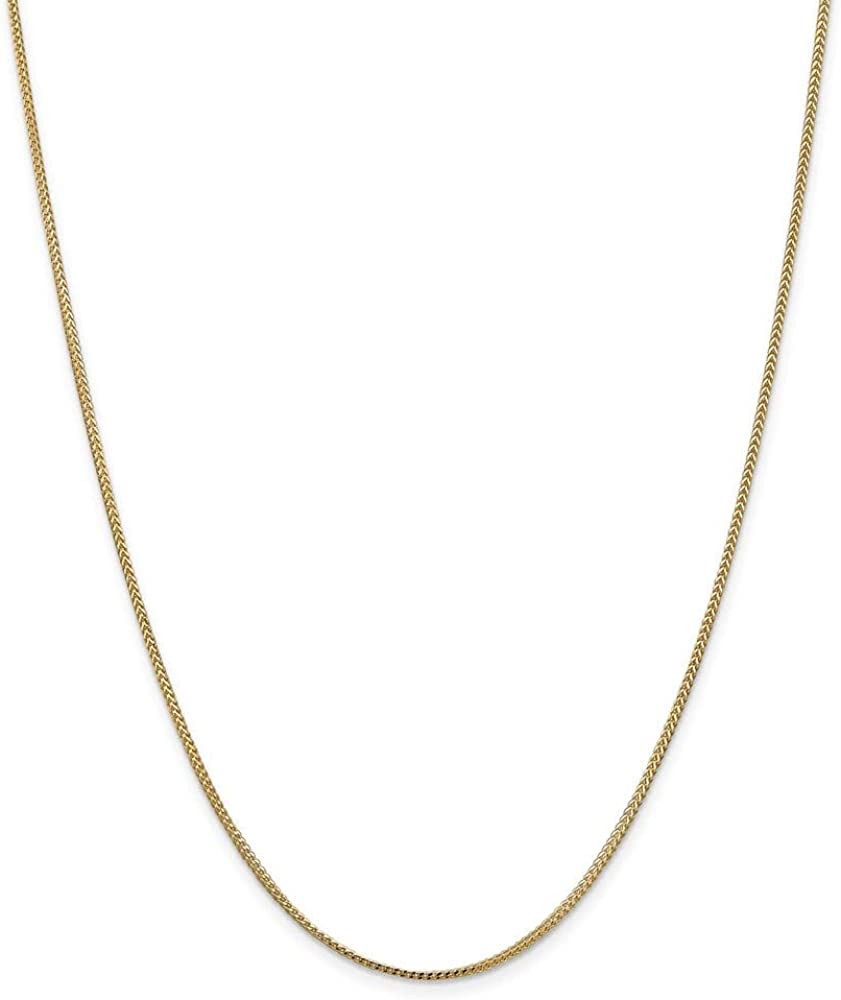 Chain Necklace Price reduction 14K Yellow Gold Franco 1 mm 1.0mm in Portland Mall 16