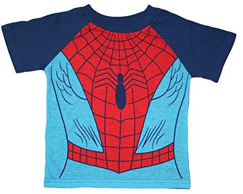 Marvel Spider-Man Little Boys Toddler Costume T Shirt (3T)