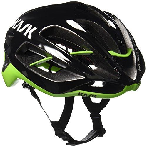 Kask Protone, Casco de Ciclismo Multiuso, Negro Verde, M