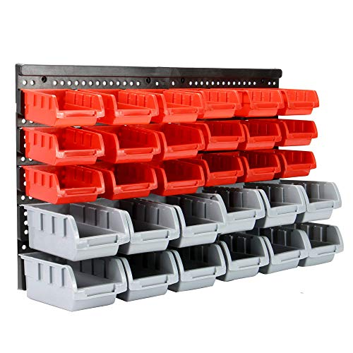 Wall Mounted Storage Bins & Backboards | Tool Organiser | Box Shelving for Garage | Shelving Units | DIY Storage Box Rack | Plastic Drawers | Pukkr