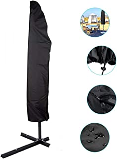 DSGYYK Parasol Cover, Extra Large Umbrella Cover with Zip, Waterproof UV-Resistant 210D Oxford Fabric Banana Parasol Protecter in Sun (Black),507040CM
