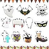 BAMZOK 11 PCS Formine per Biscotti Halloween Gioco calamaro Stampi Biscotti Acciaio Inossidabile Spina Caramelle DIY per Dolce Biscotti Frutta Torta Festa Halloween