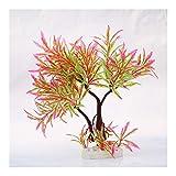 Yangmeijuan Conveniente PC 1 Acuario de la Planta del árbol de plástico Acuario Artificial Accesorios Planta Aquario Ornamento Paisaje de la decoración Durable (Color : Red, Size : One Size)