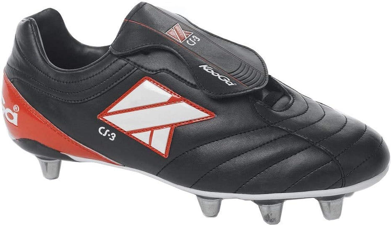 Kooga CS-3 Low Cut Soft Toe Rugby Stiefel [schwarz]  | Einfach zu spielen, freies Leben
