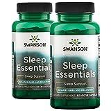Swanson Sleep Essentials 120 Veg Capsules 2 Bottles