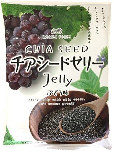 花田食品 チアシードゼリーぶどう味 10本×12袋