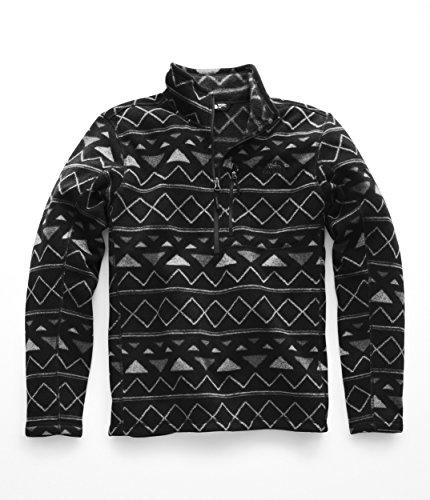 The North Face Men's Novelty Gordon Lyons Quarter Zip - TNF Black Triangle Stripe Print - XL