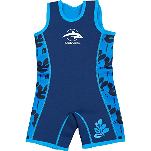 Konfidence Warma Wetsuit - Navy/Blue/Palm (4-5 Years)