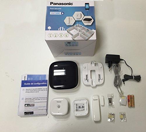 Panasonic KX-HN6010JTW - Kit de seguridad para smartphone, color negro y blanco