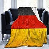 Manta ultra suave de microfibra Manta de tiro de bandera de Alemania Manta cálida Manta de cama de microfibra ligera para sofá cama - Manta de cama premium para todas las estaciones (50 X 40 pulgadas)