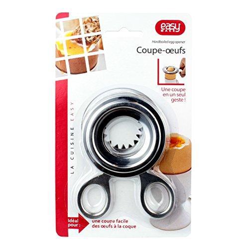 Easy Make KU6271 Coupe-Œuf Coque, PP, Argent, 7,7 x 0,5 x 10 cm