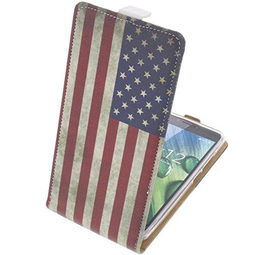 foto-kontor Tasche für Acer Liquid Z6 Plus Flipstyle Schutz Hülle Handytasche Flagge US