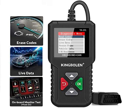 KINGBOLEN OBD2 Scanner YA101 Code Reader Universal Automotive Engine Light Check Scan Tool Checks product image