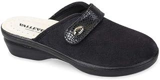 VALLEVERDE 25233 pianelle Pantofole Donna Blu con Strappo
