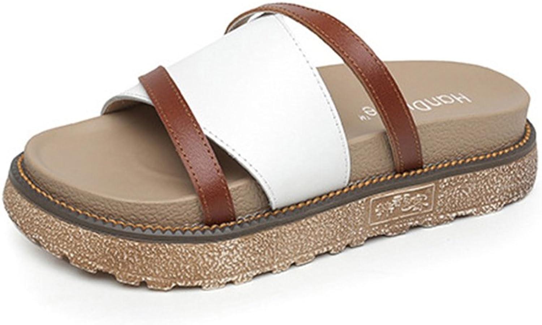 Baviue Women's Anti-Skid Leather Sandals Sandles