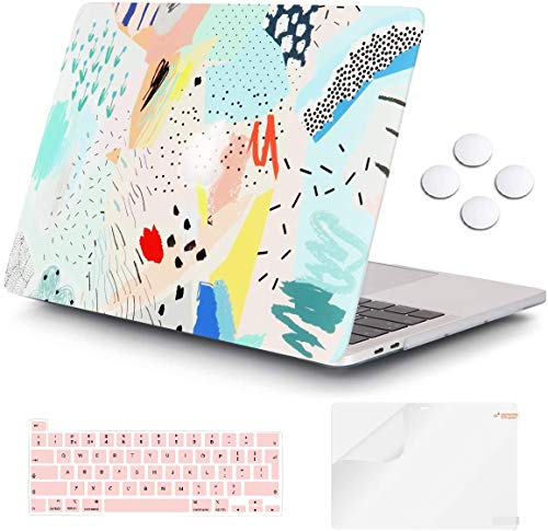 Macbook Pro 13 inch Case 2020 Release A2338 M1 A2251 A2289, iCasso Plastic Hard Shell Case Protective Cover & Keyboard Cover Only Compatible New Macbook Pro 13 inch with Touch Bar - Cartoon