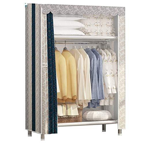 LYLY Armario para ropa, armario, estanterías, organizador de ropa, puerta y área para colgar, dormitorio, armario simple (color A: A)