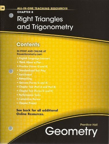 Right Triangles And Trigonometry Chapter 8 Geometry All In One Teaching Resources