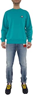 Diesel Unisex S-Girk-K12 Sweatshirt, Cotton, Mini Logo D, Light Blue