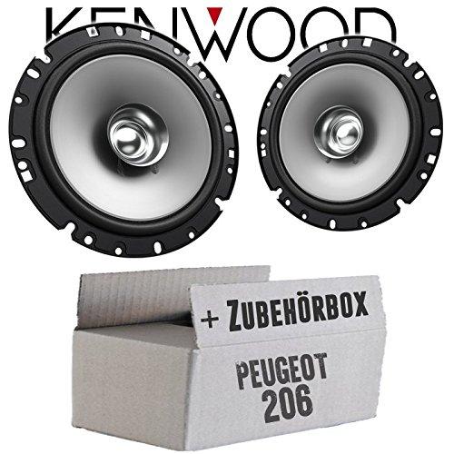 Lautsprecher Boxen Kenwood KFC-S1756-16cm Koax Auto Einbauzubehör - Einbauset für Peugeot 206 - JUST SOUND best choice for caraudio