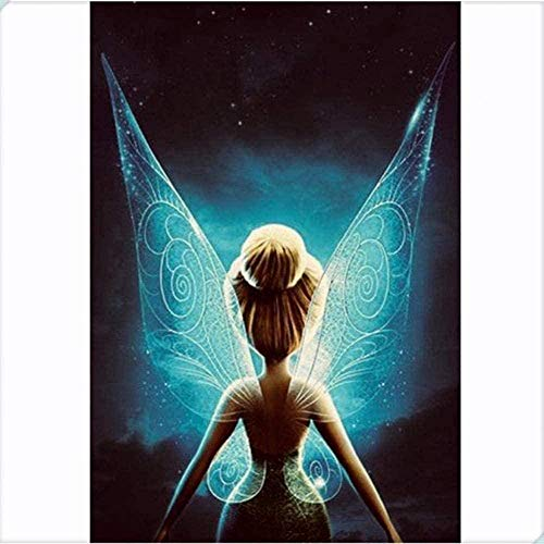 CRYUN DIY 5D Dimond Malerei Cartoon Tinkerbell Wings Kreuzstich Stickerei Mosaik Home Decoration Kinder handgemachte Geschenke 40X50Cm