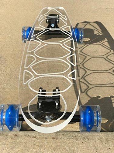 """Ghost Long Board (Light up Blue Wheels, 40"""" Maui Longboard"""
