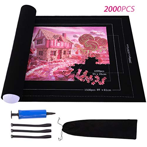Puzzle Roll Up Mat, Large Jigsaw Puzzles Mat Roll Up 2000 Pieces...