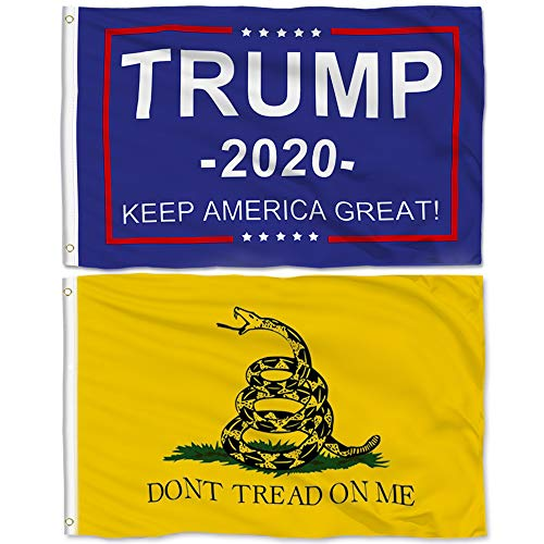 Aisto 2 Pieces 3x5 Feet Trump Flag for President 2020 Keep America Great Flag - Don