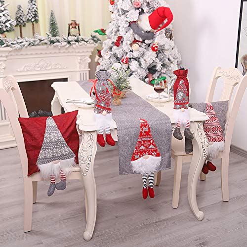 TYX-SS Decoracion Navidena - Manteles De Mesa Ropa De Mesa De Navidad para Decoracion del Hogar Cubierta De Mesa Comedor Fiesta Decoracion Navidena Regalo,Gris