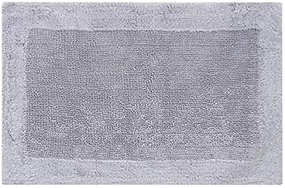 "Royal Touch ' 86OBO171901700024 100% Certified Egyptian Cotton Bath Rug, 17"" X 24"", Gray"