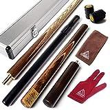 CUESOUL 57 Handcraft 3/4 Articulado Snooker Cue con Mini Butt End Extension embalado en Aluminio Cue Case (SCC-JXD303)