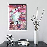 Flduod Spirited Away Japon Anime Affiche Mur Art Impression Toile Photo Salon décor à la Maison
