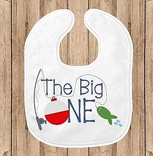 Baby Bib for Boys - 1st Birthday Party Smash Cake Bib - Fishing Theme Party - The Big One