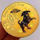 Chaenyu 2018 Wuxu Hund Baby Jinshan Wohlstand Sternzeichen Münze Goldmünze Neujahrsmünze Kopie Gedenkmünze Geschenk