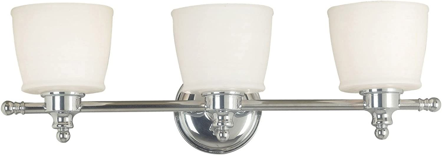 Kenroy Home 91703CH Riley 3 Light Vanity, Chrome Finish