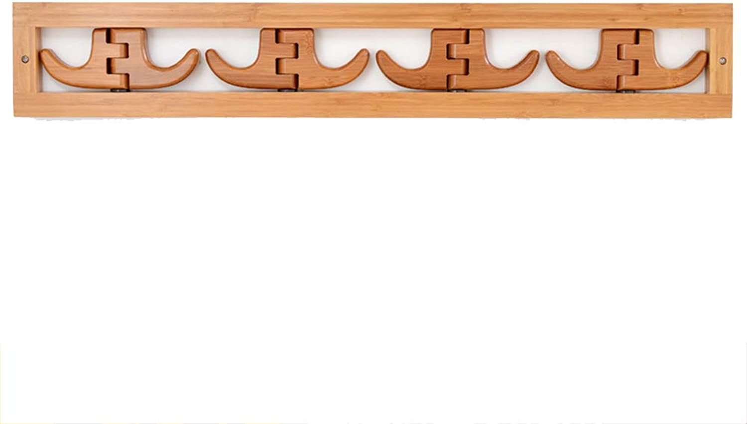 Chunlan Coat rack Solid Wood Wall-Mounted Foldable Clothes Hook Coat Rack (Size   69  11cm2cm)