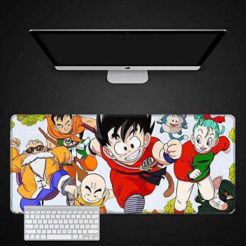 Dragon Ball Mauspads Gaming Mausmatte Büro Schreibtischmatte, 900 * 400MM PU Leder Schreibtisch Laptop Schreibtischmatte, wasserdichte Schreibtisch Schreibblock für Büro und Zuhause-B_800*300 * 3MM