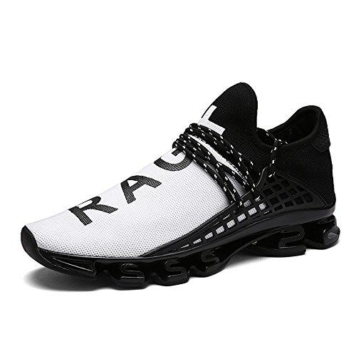XIANV Neue Freizeitschuhe Für Männer Mode Licht Atmungsaktive Billige Lace-up Männliche Schuhe Super Licht Sneaker (44, Weiß)