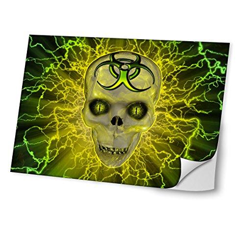 """Virano Toxic 10005, Skull, Skin-Aufkleber Folie Sticker Laptop Vinyl Designfolie Decal mit Ledernachbildung Laminat und Farbig Design für Laptop 13.3\"""""""