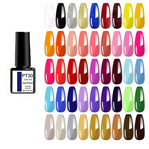 Gel nagellak 45-delige set Long-blijvende weken UV-LED-gelvernis wordt genezen door nagellicht.Primer is vereist, semi-permanente LED-gel is geschikt voor gebruik van DIY Salon.Dit product omvat niet